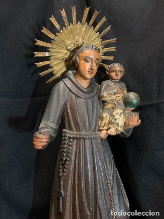 Arte: Excepcional talla de madera, SAN ANTONIO, 45cms de altura total, leer mas - Foto 14 - 229508690