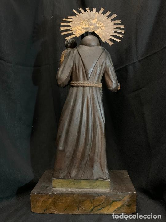 Arte: Excepcional talla de madera, SAN ANTONIO, 45cms de altura total, leer mas - Foto 19 - 229508690