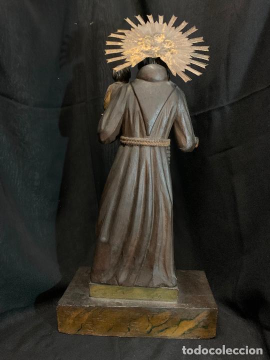 Arte: Excepcional talla de madera, SAN ANTONIO, 45cms de altura total, leer mas - Foto 20 - 229508690