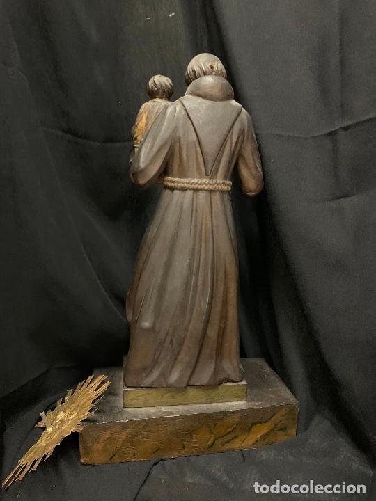 Arte: Excepcional talla de madera, SAN ANTONIO, 45cms de altura total, leer mas - Foto 21 - 229508690