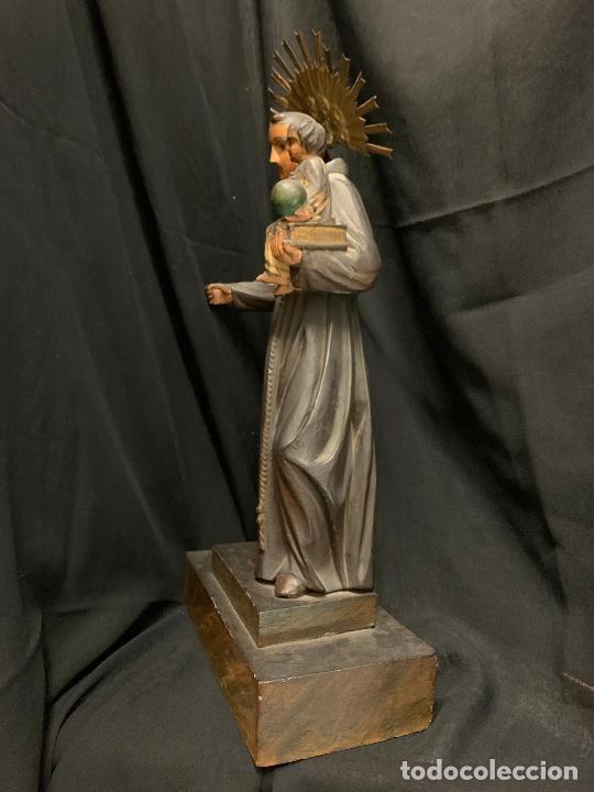 Arte: Excepcional talla de madera, SAN ANTONIO, 45cms de altura total, leer mas - Foto 22 - 229508690