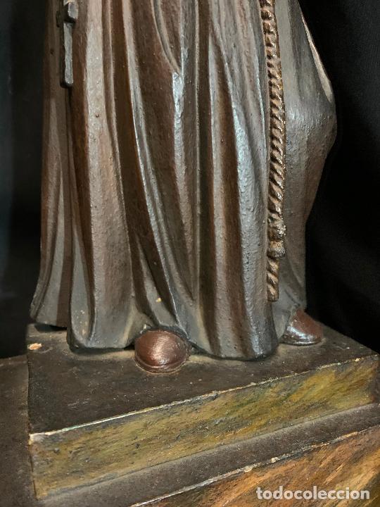 Arte: Excepcional talla de madera, SAN ANTONIO, 45cms de altura total, leer mas - Foto 27 - 229508690