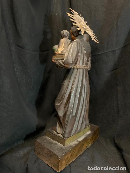 Arte: Excepcional talla de madera, SAN ANTONIO, 45cms de altura total, leer mas - Foto 28 - 229508690