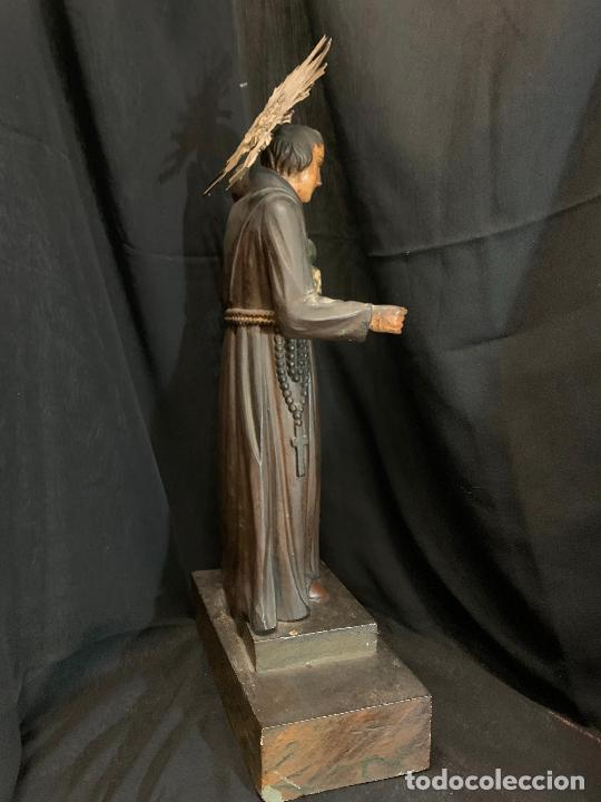 Arte: Excepcional talla de madera, SAN ANTONIO, 45cms de altura total, leer mas - Foto 29 - 229508690