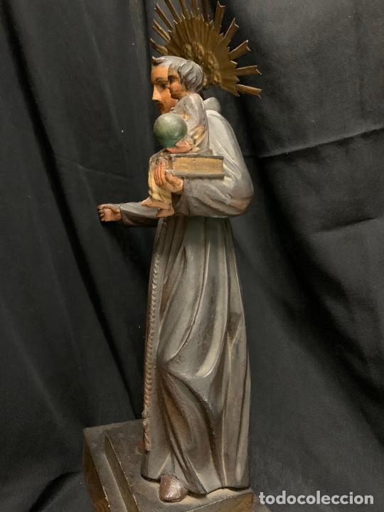 Arte: Excepcional talla de madera, SAN ANTONIO, 45cms de altura total, leer mas - Foto 33 - 229508690