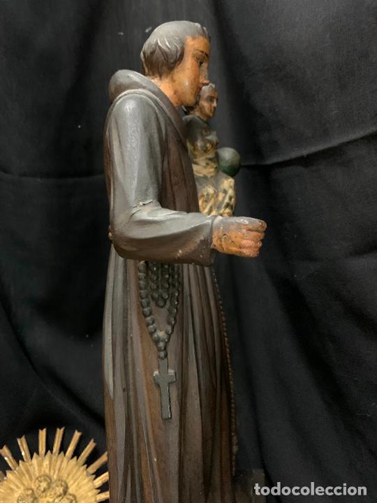 Arte: Excepcional talla de madera, SAN ANTONIO, 45cms de altura total, leer mas - Foto 37 - 229508690