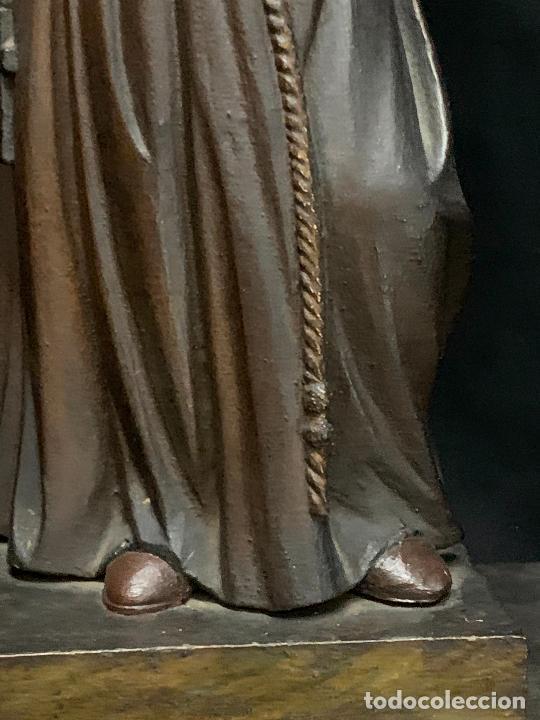 Arte: Excepcional talla de madera, SAN ANTONIO, 45cms de altura total, leer mas - Foto 38 - 229508690