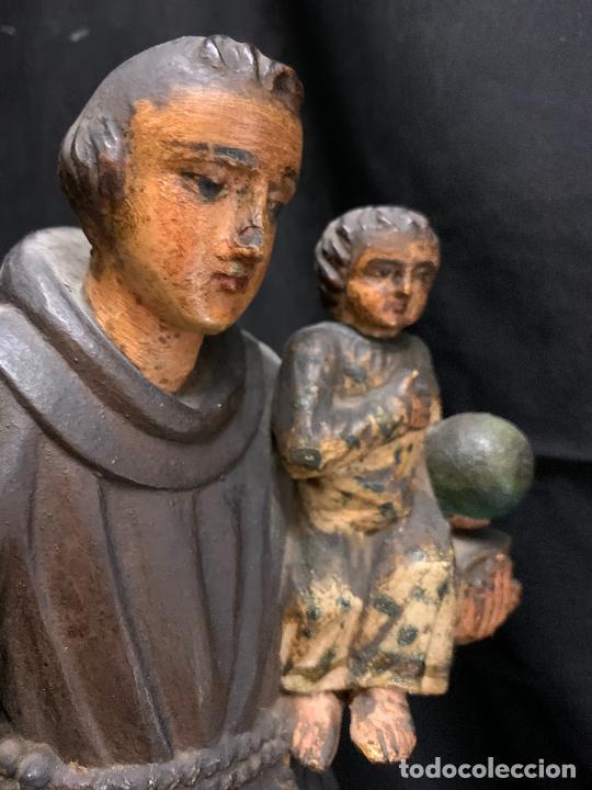 Arte: Excepcional talla de madera, SAN ANTONIO, 45cms de altura total, leer mas - Foto 42 - 229508690