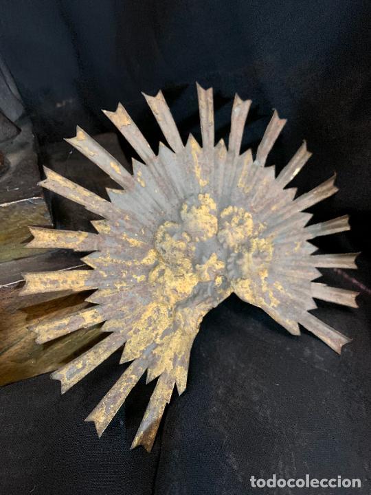 Arte: Excepcional talla de madera, SAN ANTONIO, 45cms de altura total, leer mas - Foto 46 - 229508690