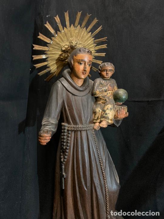 Arte: Excepcional talla de madera, SAN ANTONIO, 45cms de altura total, leer mas - Foto 49 - 229508690