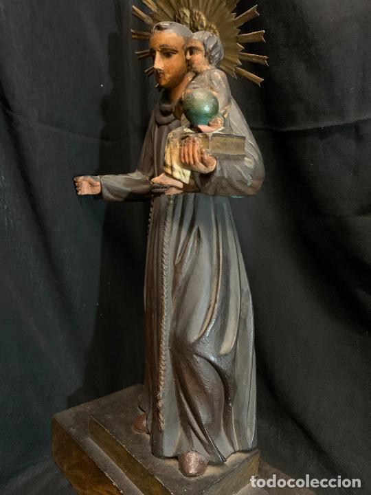 Arte: Excepcional talla de madera, SAN ANTONIO, 45cms de altura total, leer mas - Foto 50 - 229508690
