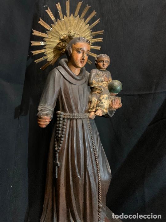 Arte: Excepcional talla de madera, SAN ANTONIO, 45cms de altura total, leer mas - Foto 51 - 229508690
