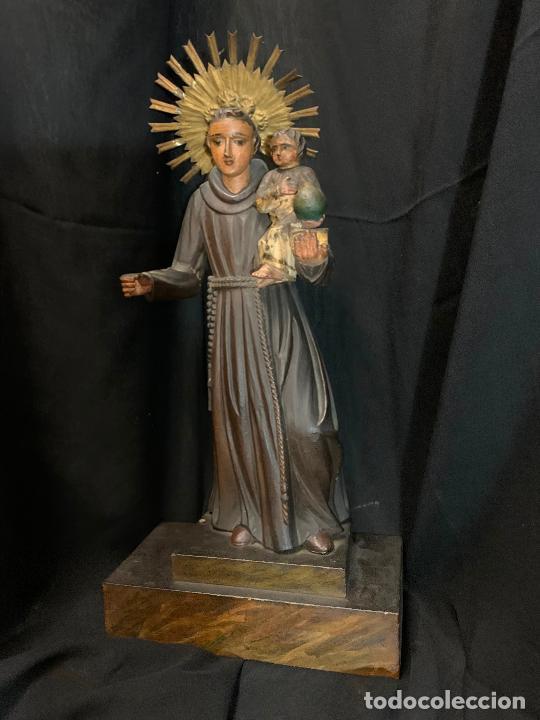 Arte: Excepcional talla de madera, SAN ANTONIO, 45cms de altura total, leer mas - Foto 55 - 229508690