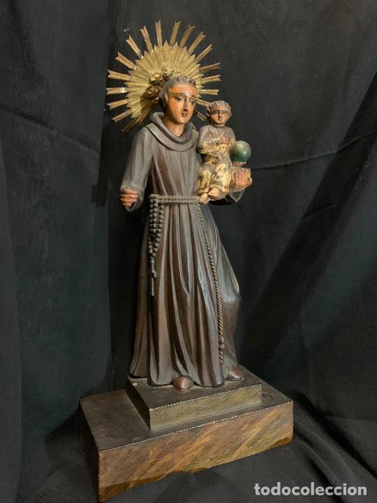 Arte: Excepcional talla de madera, SAN ANTONIO, 45cms de altura total, leer mas - Foto 56 - 229508690