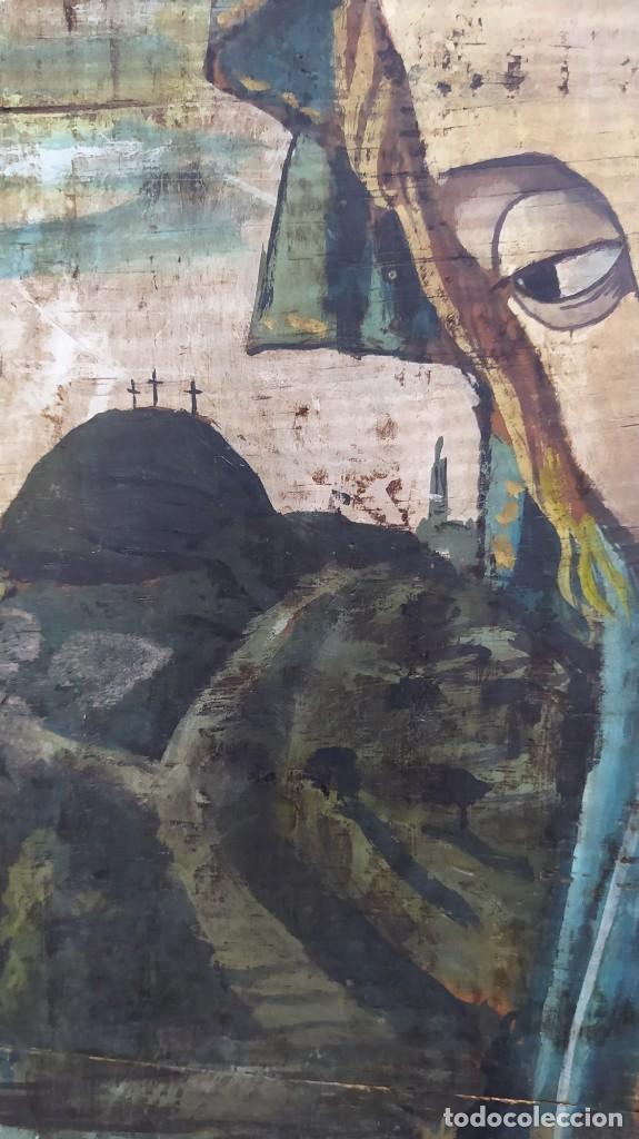 Arte: Pintura sobre tabla de estilo flamenco, siglo XIX. Tal y como se ve en las fotos. - Foto 3 - 229671185