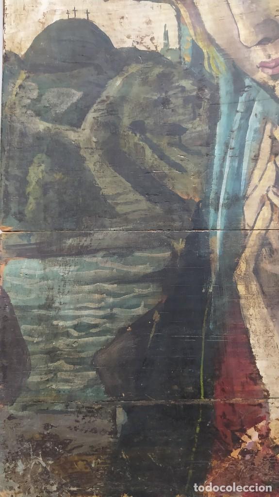Arte: Pintura sobre tabla de estilo flamenco, siglo XIX. Tal y como se ve en las fotos. - Foto 4 - 229671185