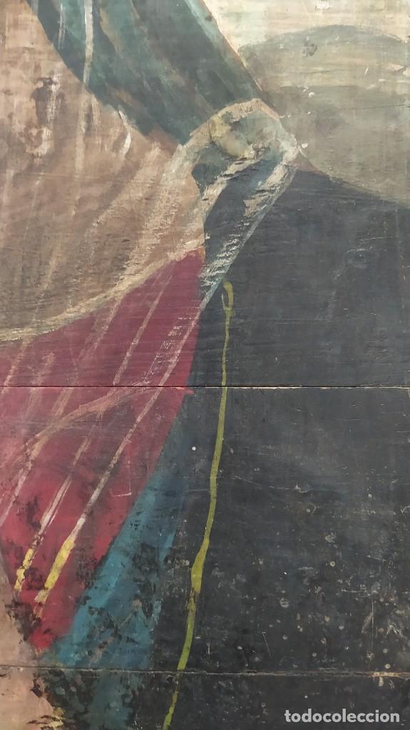 Arte: Pintura sobre tabla de estilo flamenco, siglo XIX. Tal y como se ve en las fotos. - Foto 6 - 229671185