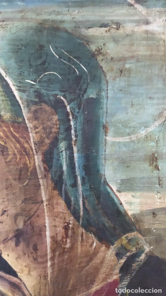 Arte: Pintura sobre tabla de estilo flamenco, siglo XIX. Tal y como se ve en las fotos. - Foto 7 - 229671185