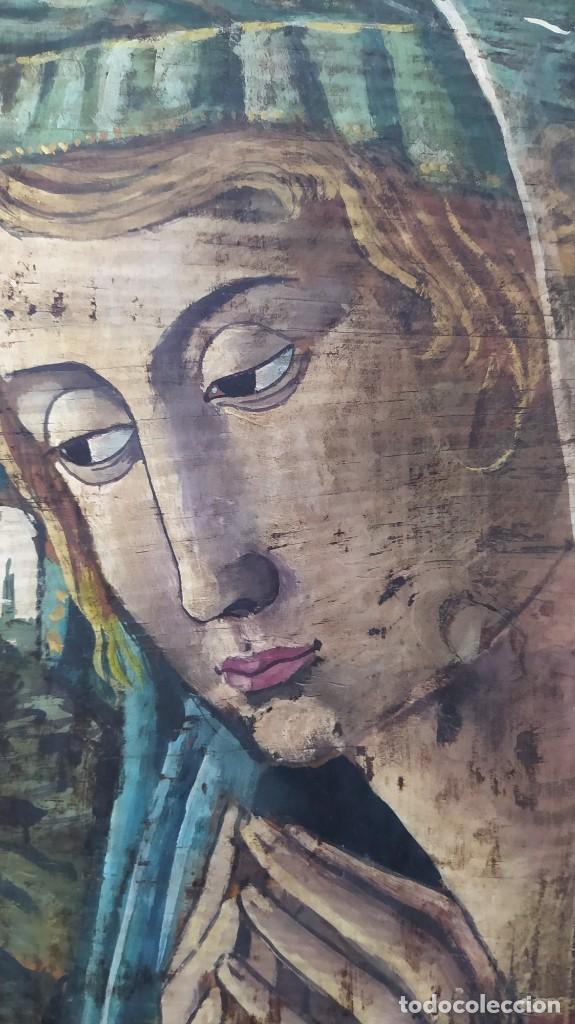 Arte: Pintura sobre tabla de estilo flamenco, siglo XIX. Tal y como se ve en las fotos. - Foto 8 - 229671185