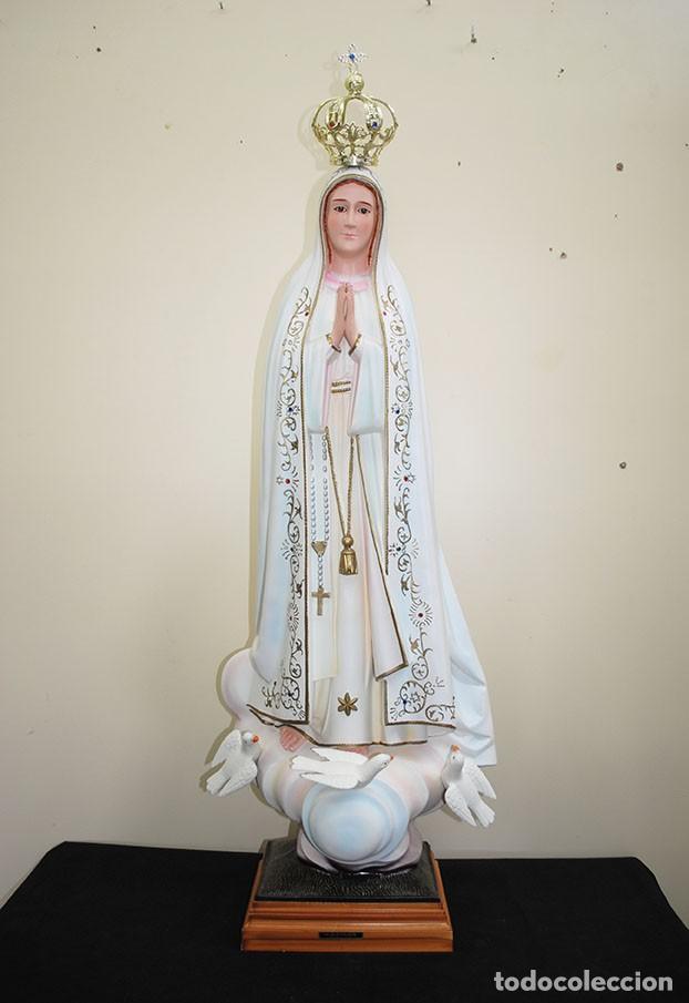 Arte: FIGURA RELIGIOSA ESTATUA VIRGEN DE FÁTIMA 105 CM - Foto 2 - 229683630