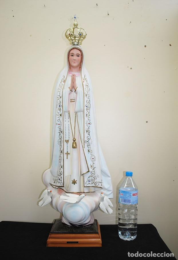Arte: FIGURA RELIGIOSA ESTATUA VIRGEN DE FÁTIMA 105 CM - Foto 3 - 229683630