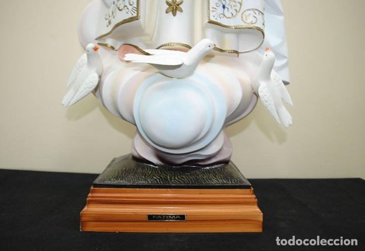 Arte: FIGURA RELIGIOSA ESTATUA VIRGEN DE FÁTIMA 105 CM - Foto 8 - 229683630