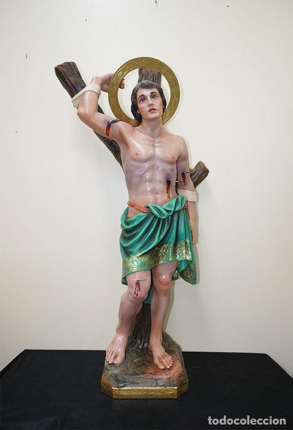 FIGURA, ESTATUA O IMAGEN RELIGIOSA SAN SEBASTIÁN 95 CM (Arte - Arte Religioso - Escultura)