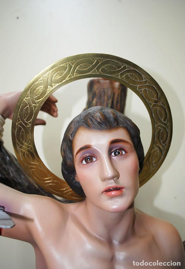 Arte: FIGURA, ESTATUA O IMAGEN RELIGIOSA SAN SEBASTIÁN 95 CM - Foto 5 - 229684760