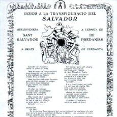 Arte: GOIGS DE LA TRANFIGURACIÓ DEL SALVADOR - PREDANIES (1968). Lote 229712245