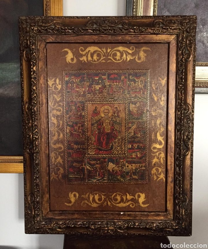 CUADRO RELIGIOSO EN ACRILICO SOBRE TABLA (Arte - Arte Religioso - Pintura Religiosa - Otros)