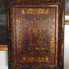Arte: CUADRO RELIGIOSO EN ACRILICO SOBRE TABLA. Lote 229816480