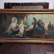 Arte: ANTIGUA LITOGRAFIA RELIGIOSA DE GRAN TAMAÑO, ENMARCADA 136X68CM. Lote 229881290