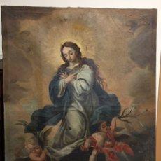 Arte: ÓLEO ANTIGUO SOBRE LIENZO - INMACULADA - PINTURA RELIGIOSA ANTIGUA. Lote 229903725