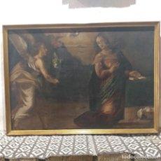 Arte: LA ANUNCIACIÓN. ÓLEO/LIENZO. S.XVII.. Lote 229923965