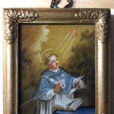 Arte: ANTIGUA PINTURA EN CRISTAL - ANTIGUO ÓLEO- PINTURA RELIGIOSA ANTIGUA. Lote 229904810