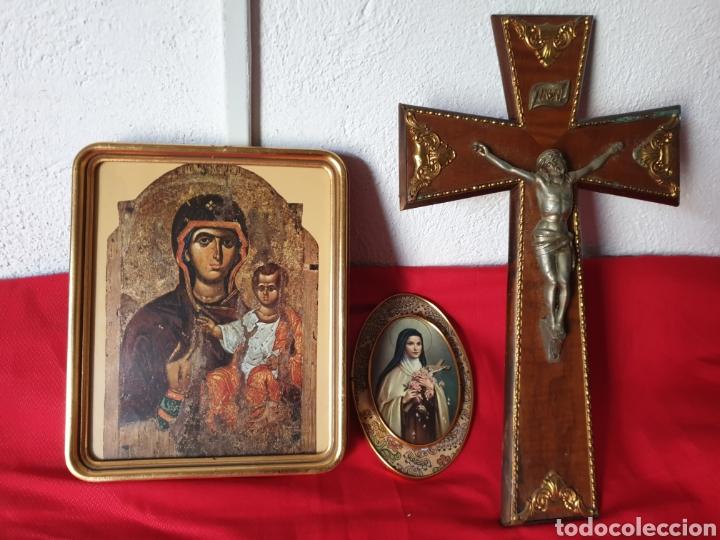 ANTIGUOS ICONOS Y CRUCIFIJO (Arte - Arte Religioso - Iconos)