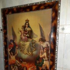 Arte: ANTIGUO CUADRO DE VIRGEN DEL CARMEN. 64X85 CM .VER FOTOS.. Lote 230565600