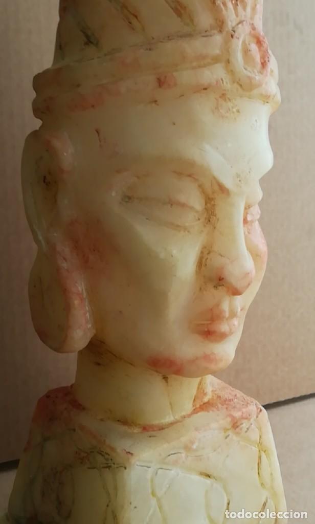 Arte: Impresionante escultura buda tibetano alabastro 44 cm - Foto 5 - 230697670