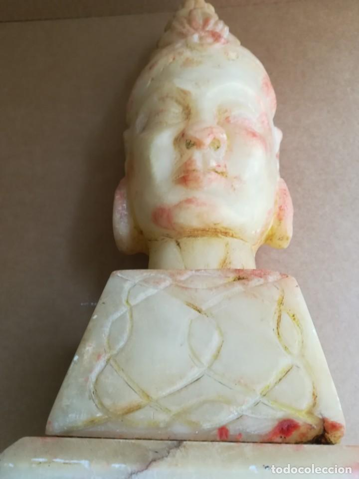Arte: Impresionante escultura buda tibetano alabastro 44 cm - Foto 28 - 230697670