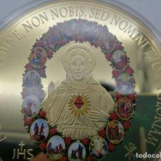 Arte: BONITO MEDALLON XXXL DEL SAGRADO CORAZON DE JESÚS DE LA CIUDAD DEL VATICANO. Lote 69674857
