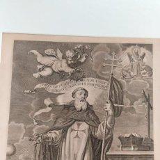 Arte: GRABADO DEL PATRIARCA SAN JUAN DE MATA AMBERES PETER PAUL BOUCHE SIGLO XVII ORDEN TRINITARIA FLANDES. Lote 230873370