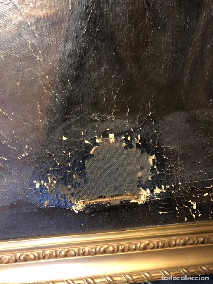 Arte: Cuadro religioso de óleo sobre lienzo para restaurar siglo XVIII 84x67cm - Foto 2 - 230998925