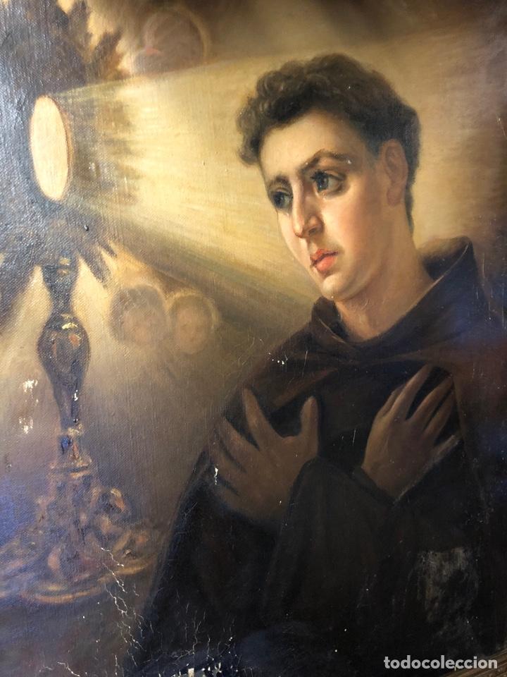 Arte: Cuadro religioso de óleo sobre lienzo para restaurar siglo XVIII 84x67cm - Foto 4 - 230998925
