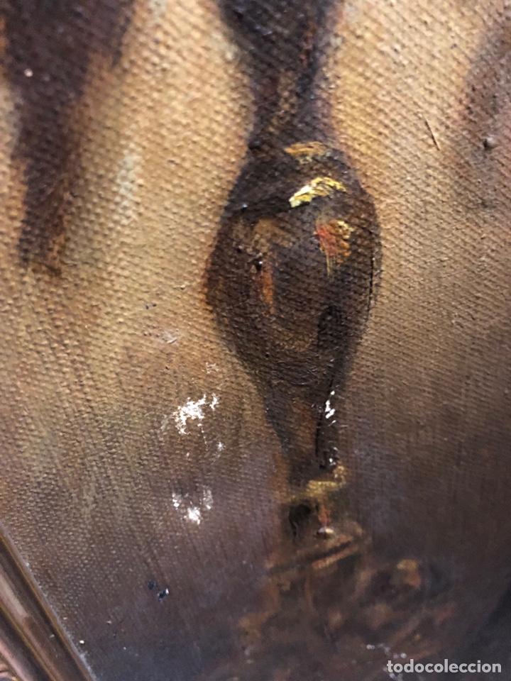 Arte: Cuadro religioso de óleo sobre lienzo para restaurar siglo XVIII 84x67cm - Foto 8 - 230998925