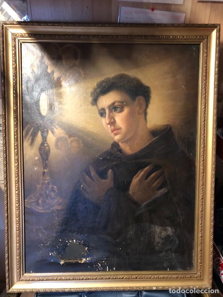 CUADRO RELIGIOSO DE ÓLEO SOBRE LIENZO PARA RESTAURAR SIGLO XVIII 84X67CM (Arte - Arte Religioso - Pintura Religiosa - Oleo)