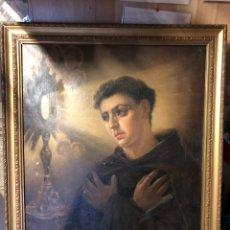 Arte: CUADRO RELIGIOSO DE ÓLEO SOBRE LIENZO PARA RESTAURAR SIGLO XVIII 84X67CM. Lote 230998925