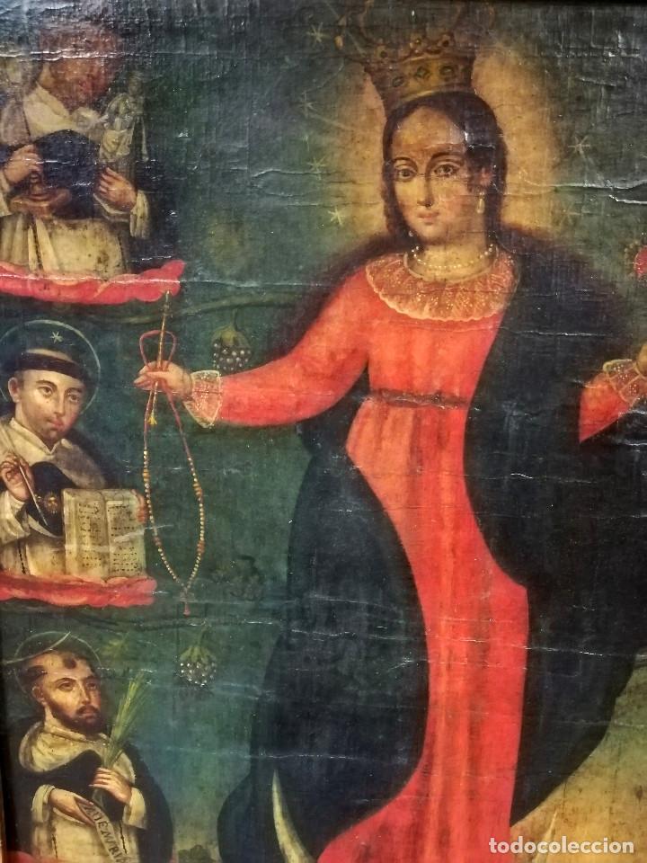 Arte: OLEO VIRGEN DE LA ESCALERA SIGLO XVIII - Foto 9 - 231295635