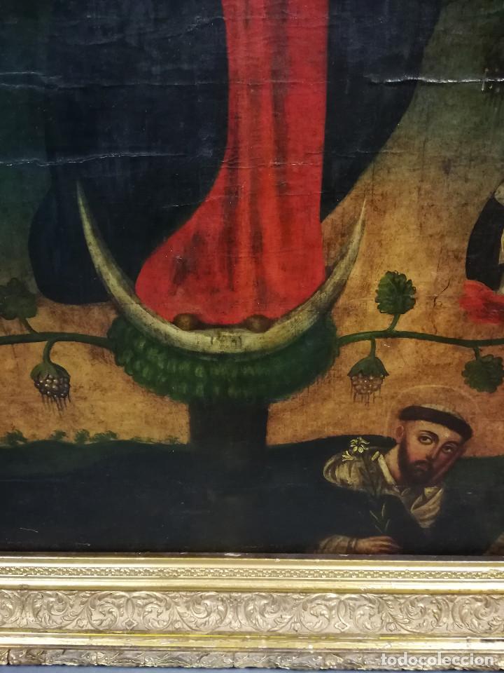 Arte: OLEO VIRGEN DE LA ESCALERA SIGLO XVIII - Foto 11 - 231295635