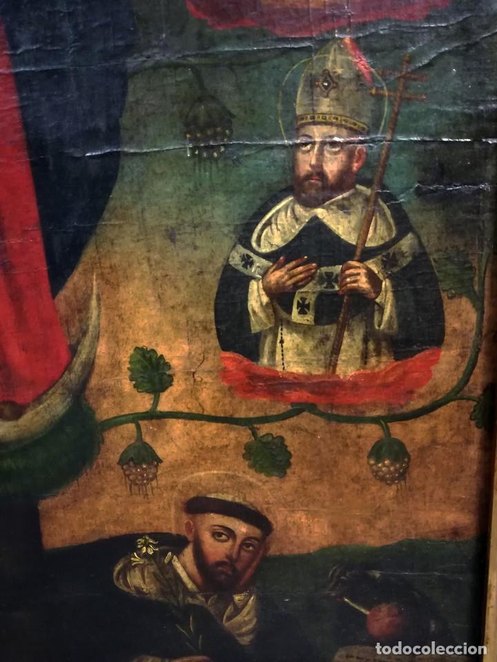 Arte: OLEO VIRGEN DE LA ESCALERA SIGLO XVIII - Foto 13 - 231295635