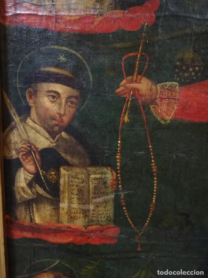 Arte: OLEO VIRGEN DE LA ESCALERA SIGLO XVIII - Foto 15 - 231295635